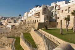 Mening van Tanger dichtbij de haven Stock Foto