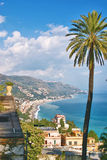 Mening van Taormina - Sicilië Stock Foto