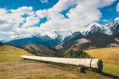 Mening van Tatra-bergen in de lentetijd Stock Afbeeldingen