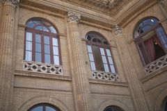 Mening van Teatro Massimo stock foto