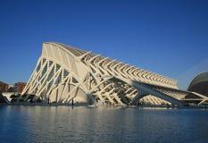 Mening van technisch museum in Valencia Stock Foto