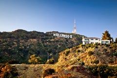 Mening van teken Hollywood in Los Angeles Royalty-vrije Stock Foto