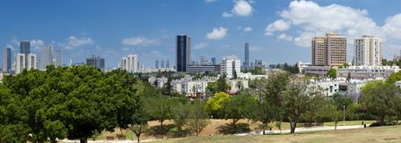 Mening van Tel Aviv. Stock Foto's