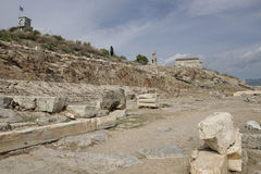 Mening van Telesterion, oude Eleusis Royalty-vrije Stock Afbeeldingen