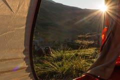 Mening van Tent camping stock afbeelding