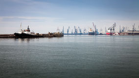 Mening van Thessaloniki Haven, Griekenland royalty-vrije stock foto