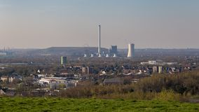 Mening van Tippelsberg, Bochum, Duitsland stock afbeeldingen