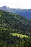 Mening van Toevluchtsoord Lunelli, dichtbij Padola royalty-vrije stock fotografie