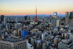 Mening van Tokyo Stock Fotografie