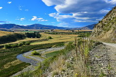 Mening van toneeldroesemvallei in Nieuw Zeeland Royalty-vrije Stock Afbeelding