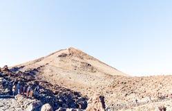 Mening van top van MT Teide, Tenerife, Spanje Royalty-vrije Stock Afbeelding