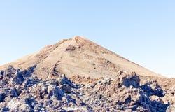 Mening van top van MT Teide, Tenerife, Spanje Stock Afbeeldingen