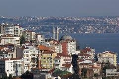 Mening van toren Galata aan Istanboel, Turkije. Royalty-vrije Stock Foto