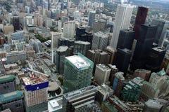 Mening van Toronto van de binnenstad van CN Toren Royalty-vrije Stock Foto's
