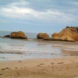 Mening van Torquay-strand royalty-vrije stock afbeelding