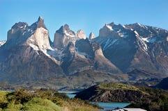 Mening van Torres del Paine Royalty-vrije Stock Foto's