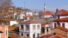 Mening van Traditioneel Ottomane Anatolisch Dorp, Safranbolu, Turkije stock videobeelden