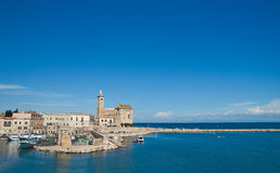 Mening van Trani Puglia Italië royalty-vrije stock fotografie