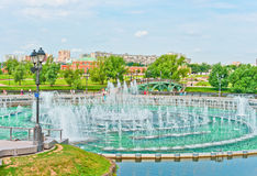 Mening van Tsaritsino Park, Moskou Stock Foto's