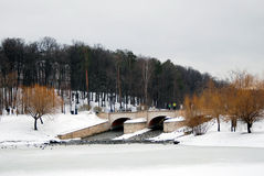 Mening van Tsaritsyno-park in Moskou Stock Afbeeldingen