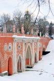 Mening van Tsaritsyno-park in Moskou Stock Fotografie