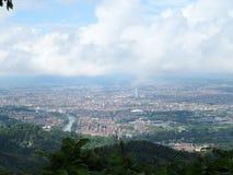 Mening van Turijn van de heuvel van Superga Stock Afbeelding