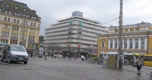 Mening van Turku Finland stock footage