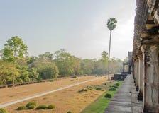 Mening van Tweede muur, Angkor Wat, Siem Riep, Kambodja Stock Fotografie