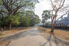 Mening van Tweede muur, Angkor Wat, Siem Riep, Kambodja Royalty-vrije Stock Foto's