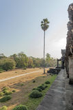 Mening van Tweede muur, Angkor Wat, Siem Riep, Kambodja Stock Foto's