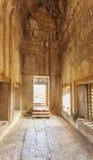 Mening van Tweede muur, Angkor Wat, Siem Riep, Kambodja Royalty-vrije Stock Fotografie