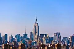 Mening van uit het stadscentrum Manhattan Royalty-vrije Stock Foto's