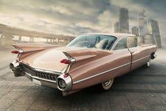 Mening van uitstekende auto Stock Foto's