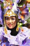 Mening van unieke kostuums met thema de andere purpere orchideeën Stock Foto
