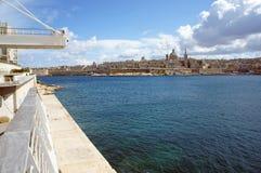 Mening van Valletta - hoofdstad van Malta Stock Afbeelding