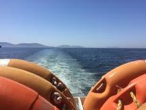 Mening van veerboot Royalty-vrije Stock Foto