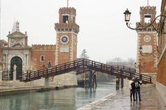 Mening van Venetië Stock Foto's