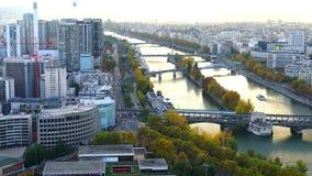 Mening van Verkeer in Parijs stock videobeelden