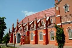 Mening van vernieuwde St Mary de Maagdelijke Kerkkathedraal Multan Pakistan stock afbeelding