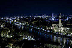 Mening van Verona van Castel San Pietro Stock Foto