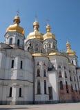 Mening van Veronderstellingskathedraal in Kiev Pechersk Lavra, de Oekraïne Royalty-vrije Stock Foto