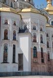 Mening van Veronderstellingskathedraal in Kiev Pechersk Lavra, de Oekraïne Stock Afbeelding