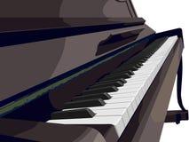 Mening van verticale piano zijdelings. Royalty-vrije Stock Afbeelding