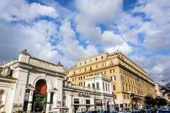 Mening van via Cola Di Rienzo bij de lokale markt in Rome, Italië Royalty-vrije Stock Foto