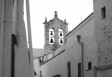 Mening van vier klokken in Otranto stock foto