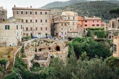 Mening van villa Gregoriana, Tivoli, Lazio, Italië Royalty-vrije Stock Foto's