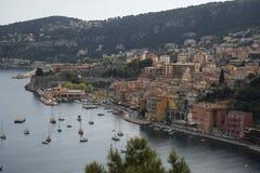 Mening van Villefranche sur Mer op Franse Riviera Royalty-vrije Stock Foto