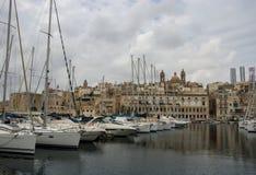 Mening van Vittoriosa, Malta stock fotografie