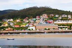 Mening van Viveiro met rivier Lugo Stock Foto's