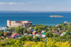 Mening van Vladivostok, Rusland royalty-vrije stock afbeelding